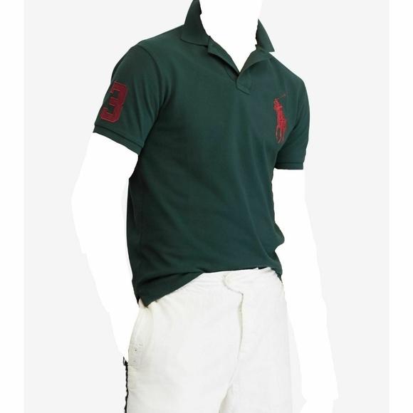 2321f9eb Mens Ralph Lauren Green Polo Shirt Slim Fit XL New NWT